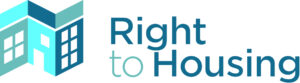 Right to Housing words in blue